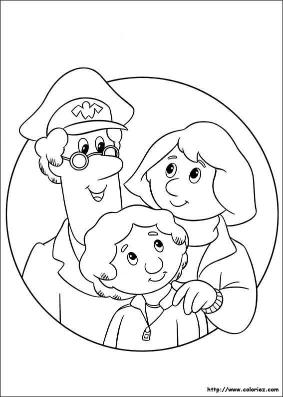 Coloriage coloriage de la famille de pierre - Coloriage facteur ...