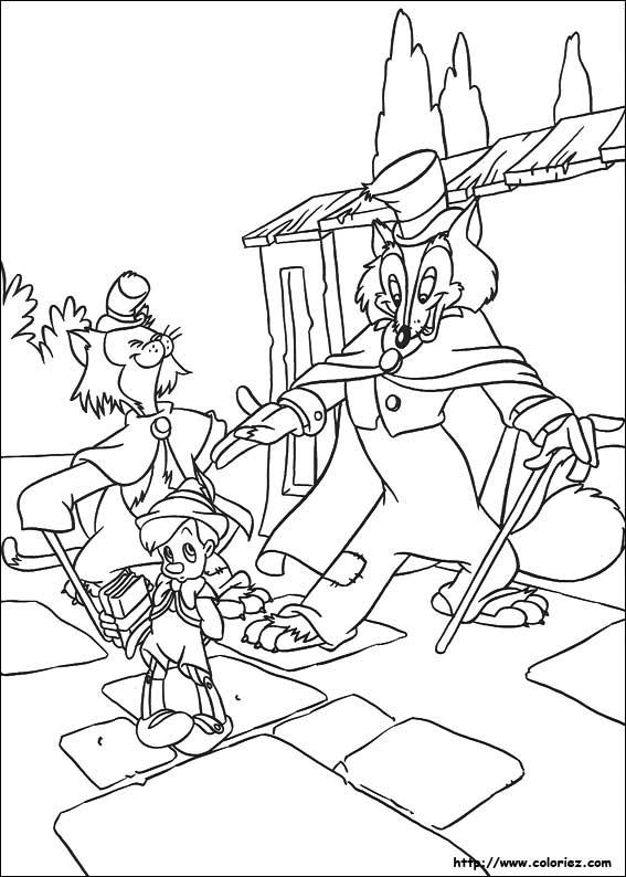 pinnochio et grand coquin - Coloriage De Grand