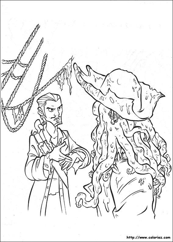 Coloriage pirate - Dessin pirate des caraibes ...