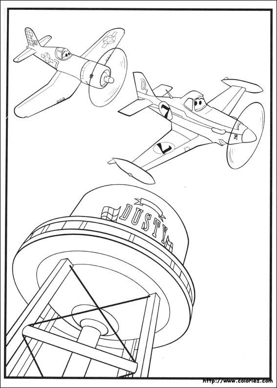 Coloriage poster de skipper et dusty - Planes coloriage ...