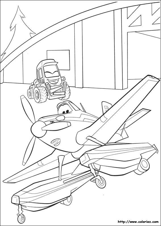 Coloriage les patins de dusty - Planes coloriage ...