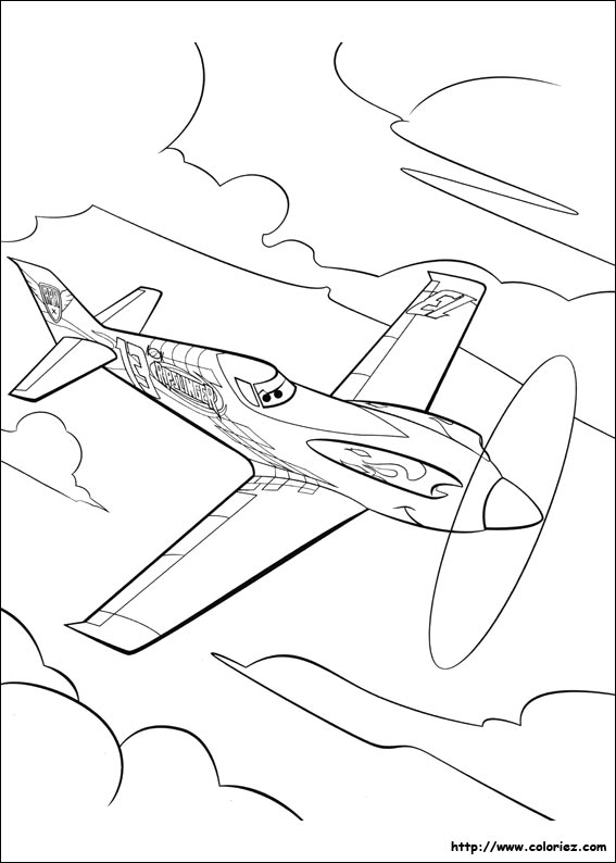 Disney Planes Coloring Pages Ripslinger : Coloriage ripslinger