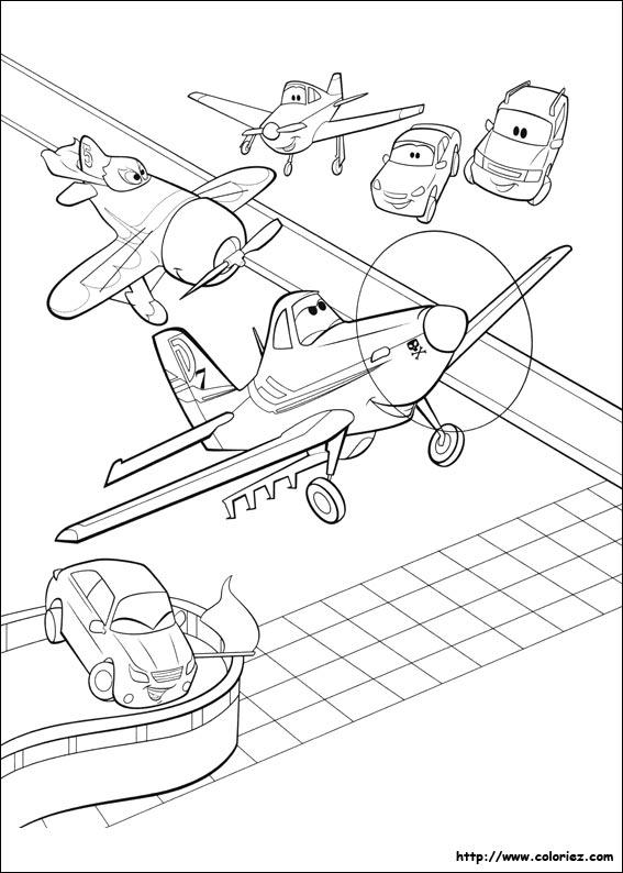 Coloriage en piste - Planes coloriage ...
