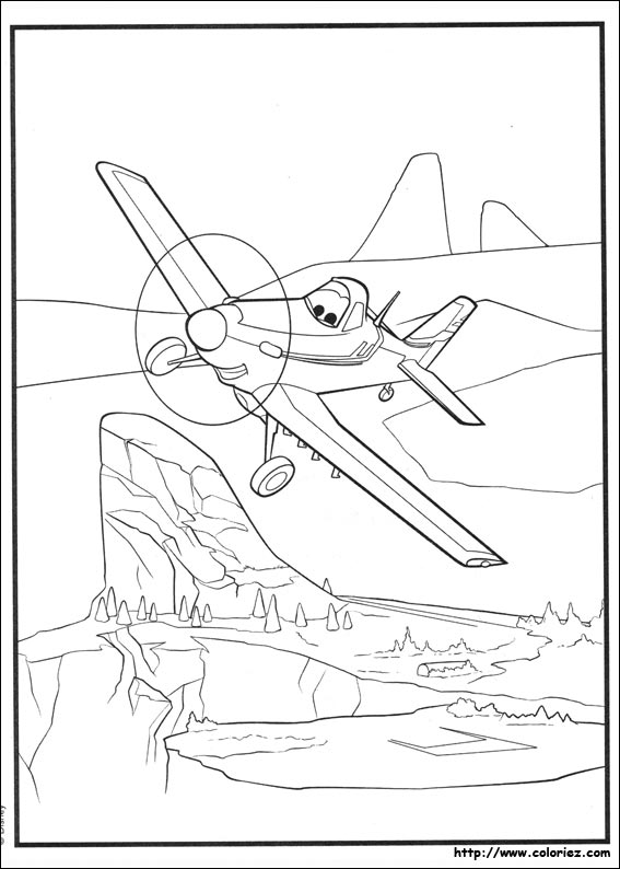Coloriage poster de dusty - Planes coloriage ...