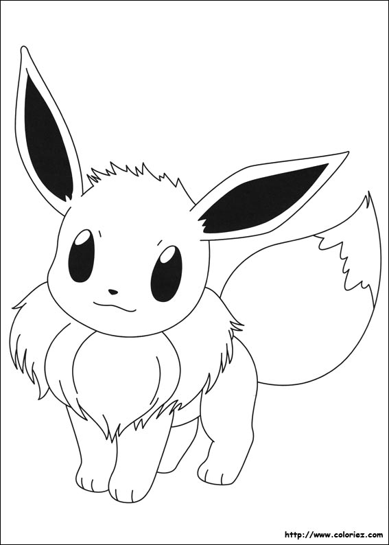Coloriage evoli - Coloriage de pokemon x y ...