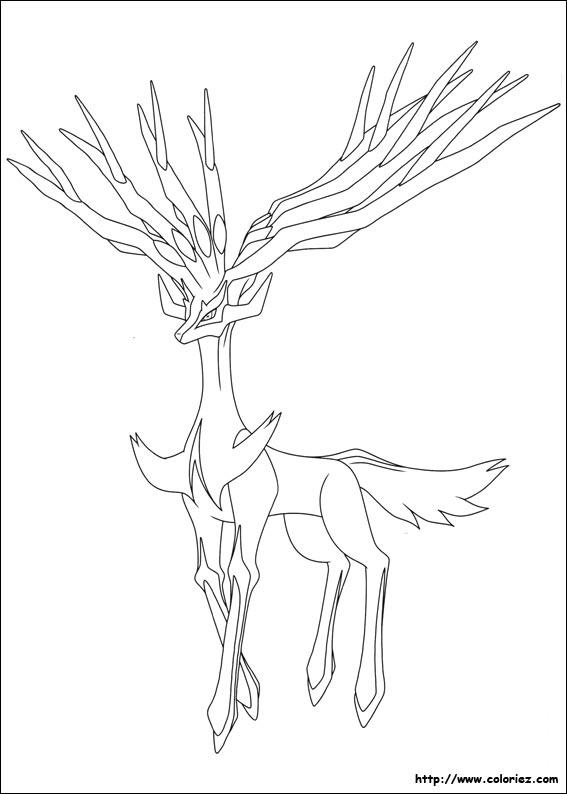 coloriage a imprimer pokemon xerneas