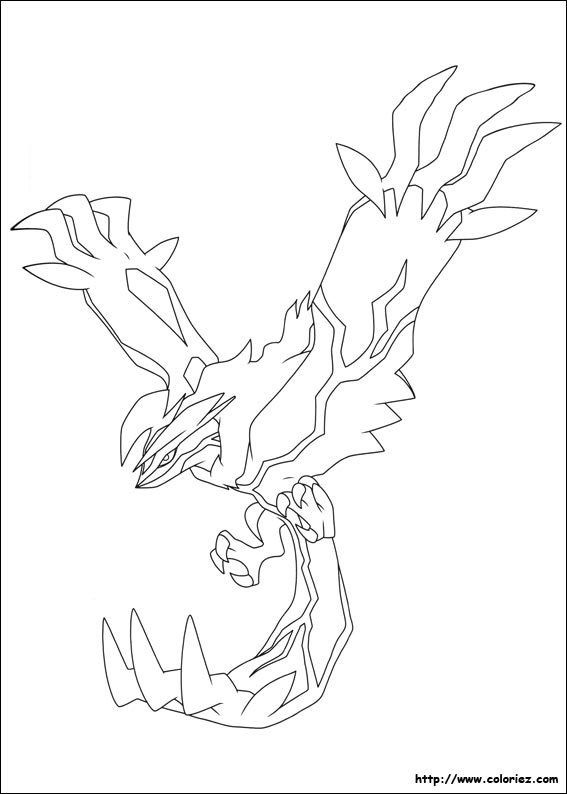Coloriage yveltal - Coloriage carte pokemon ...