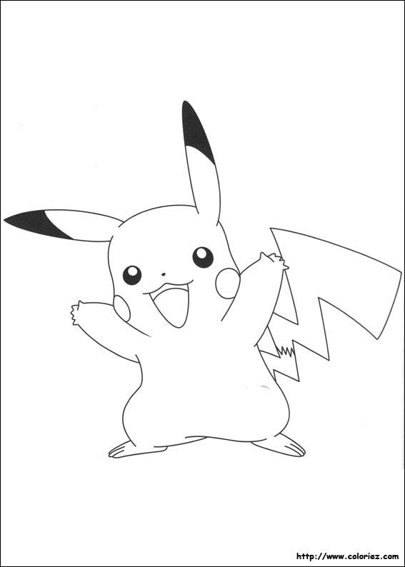 Coloriage pikachu 2 - Coloriage de pikachu ...