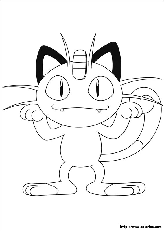 Coloriage miaouss - Coloriage de pokemon x y ...