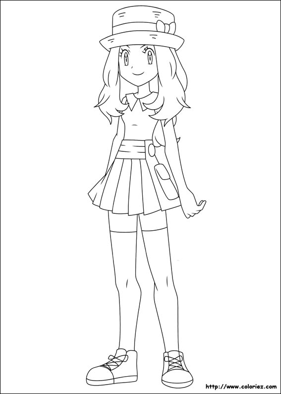 Serena Pokemon Xy Coloring Pages Coloring Pages