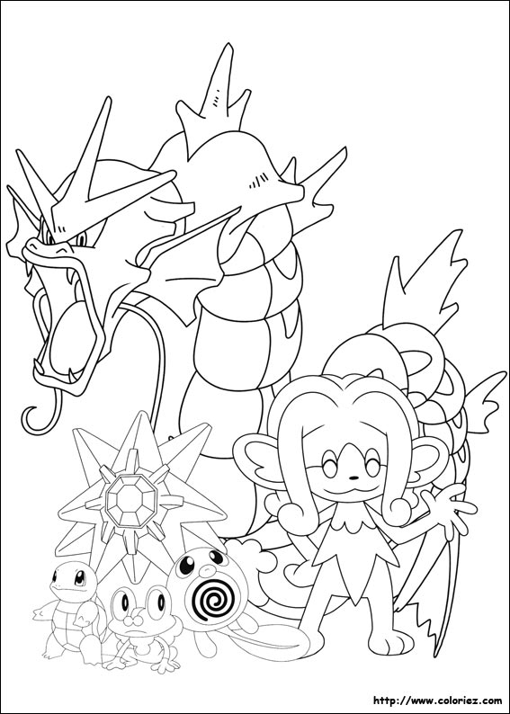 Coloriage pokemon de type eau - Coloriage carte pokemon ...