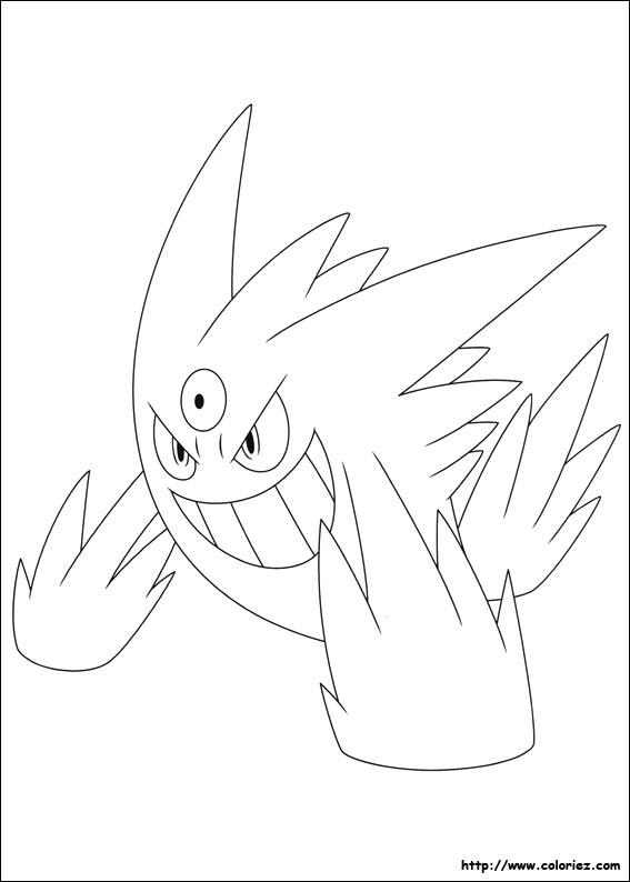 Coloriage m ga ectoplasma - Modele dessin pokemon ...