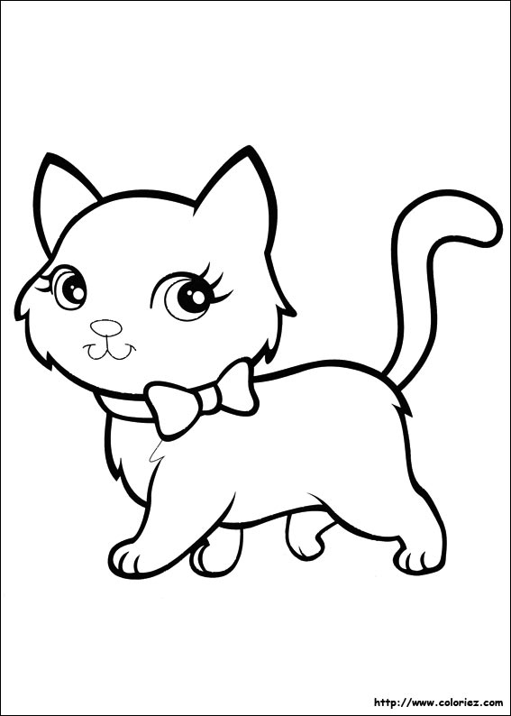 Coloriage le chat de polly - Jeux de coloriage de chat ...