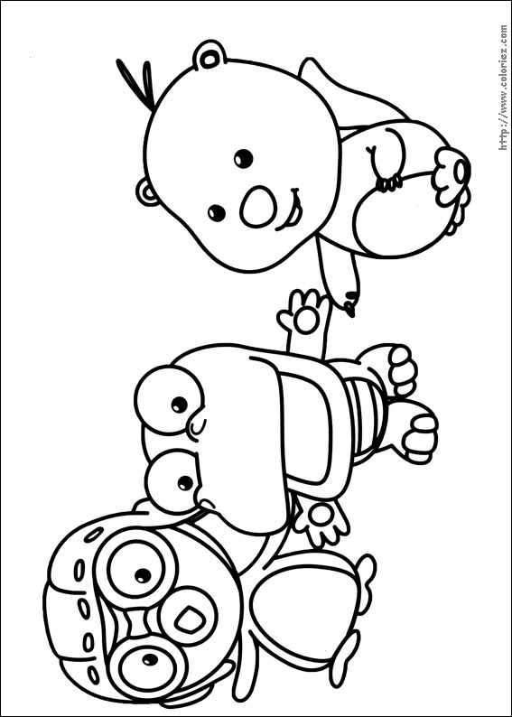 Coloriage pororo et ses copains for Pororo coloring pages