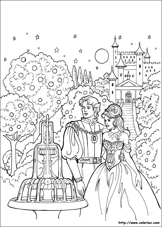 Coloriage nuit d 39 enchantement pour la princesse l onora - Prince et princesse dessin ...