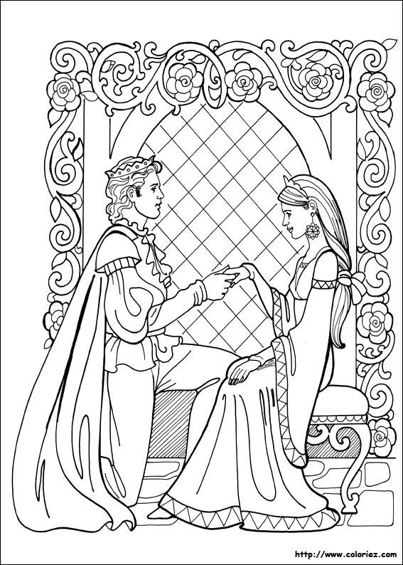 Coloriage Princesse Mariage.Coloriage La Demande En Mariage