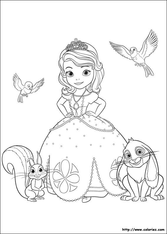 Coloriage un nouvelle vie pour sofia - Coloriage princesse sophia ...