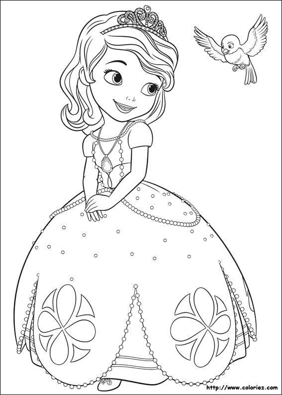 dessin a imprimer princesse sofia