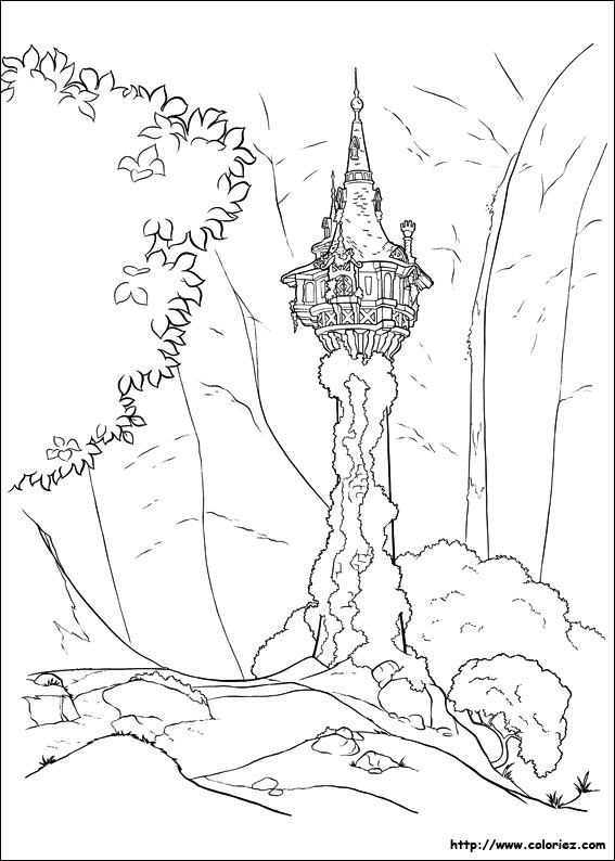 Coloring pages tangled - Dessin de raiponce ...