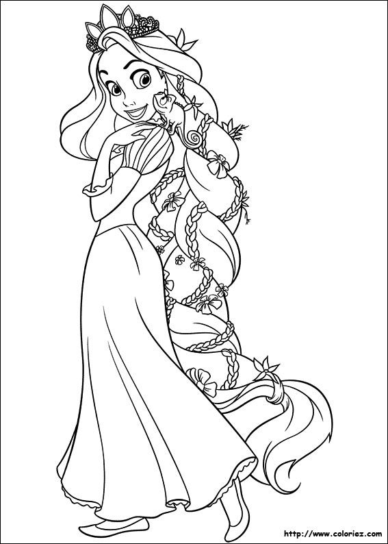 Pages de coloriage raiponce - Princesse raiponce ...