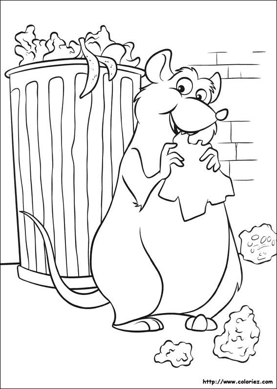 Le coloriage ratatouille de la catégorie ratatouille est sur ton site