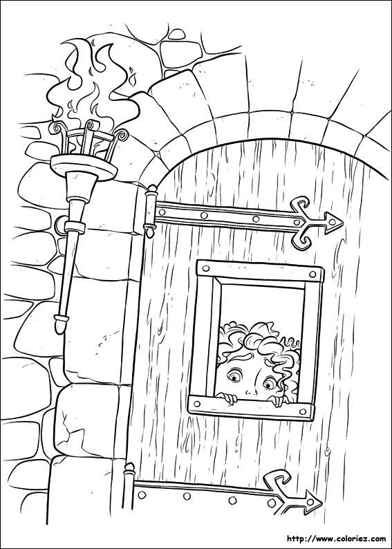 Coloriage les clefs de merida for Porte ouverte dessin