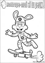 Coloriage de Flash le lapin