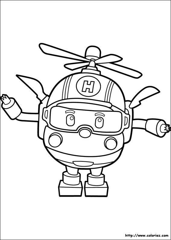 Coloriage h li - Robocar poli heli ...