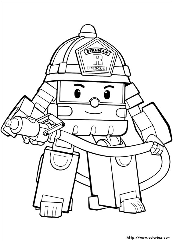Coloring Pages Robocar Poli : Pin robocar poliu colouring pages on pinterest