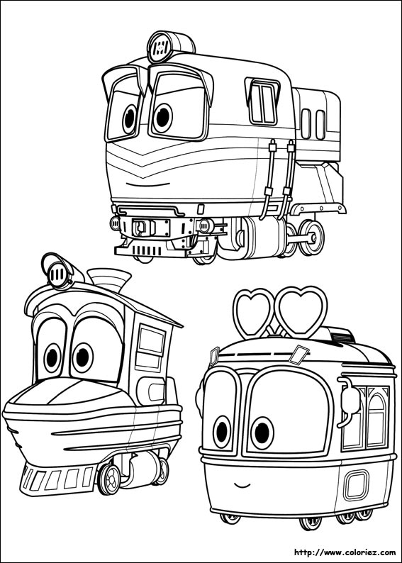 coloriage selly duck et alf trains. Black Bedroom Furniture Sets. Home Design Ideas