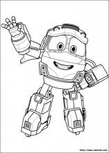 coloriage a imprimer robot train
