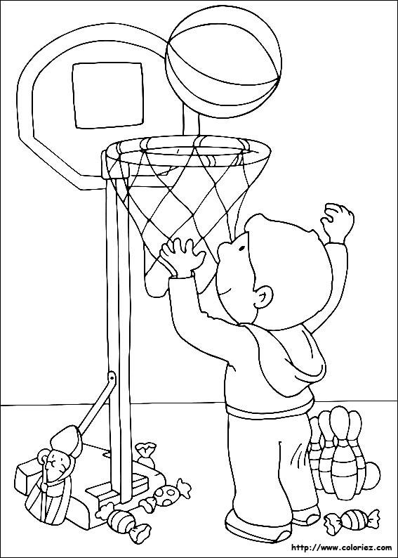 Coloriage coloriages des jouets de saint nicolas - Dessin basket ...
