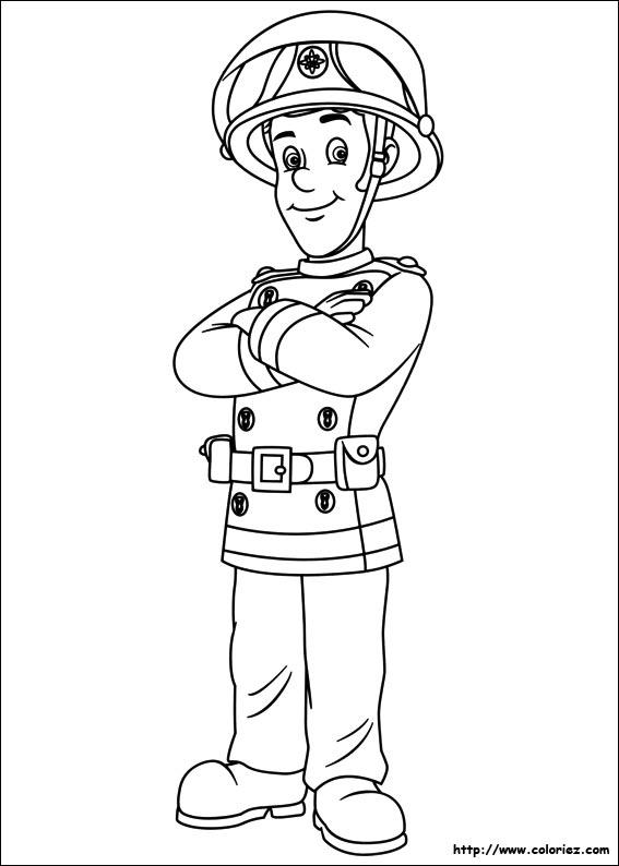 Coloriage elvis - Dessin sam le pompier ...