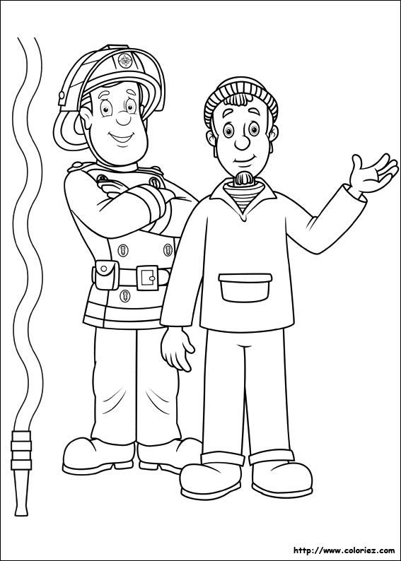 Coloriage charlie - Dessin sam le pompier ...