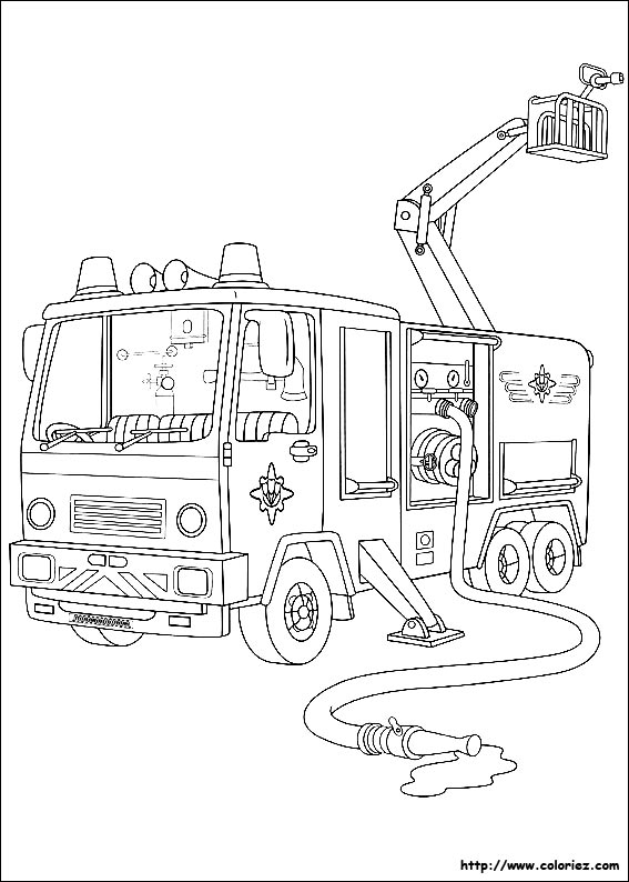 Image Result For Firetruck Coloring Page
