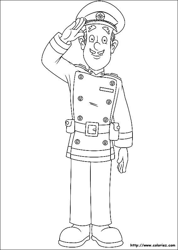 Coloriage colonel boyce - Dessin sam le pompier ...