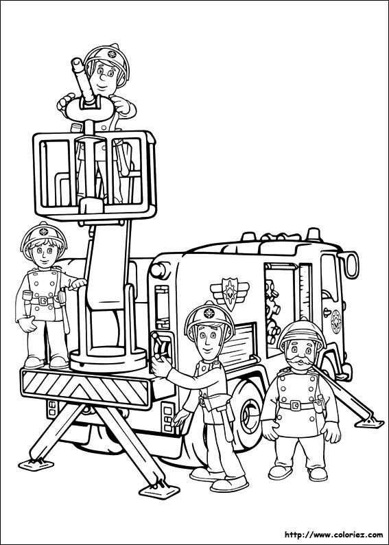 Coloriage sam le pompier et jupiter - Coloriages pompiers ...