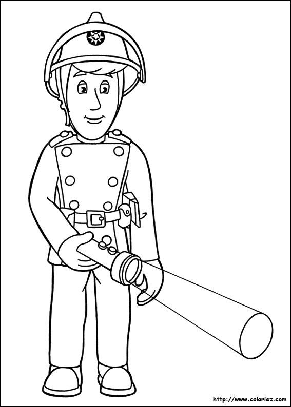 Coloriage coloriage d 39 elvis - Dessin sam le pompier ...