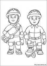 Coloriage coloriages de sam le pompier - Coloriage sam le pompier imprimer ...