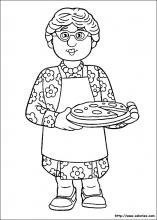 coloriage de la pizza de Bella