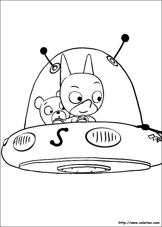 Coloriage samsam dans sa soucoupe volante - Soucoupe volante dessin ...