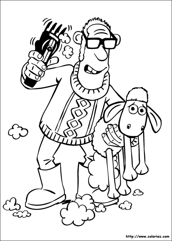 Coloriage204 coloriage shaun le mouton - Mouton en dessin ...