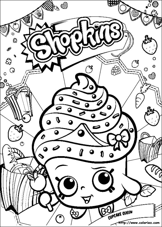 Coloriage Cupcake Queen