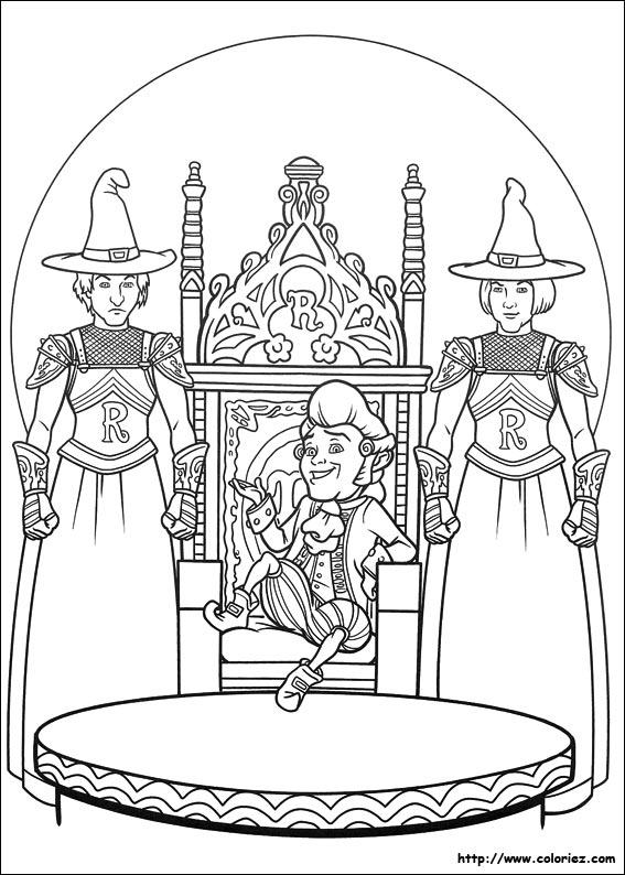 Coloriage coloriage du nouveau souverain - Coloriage shrek ...