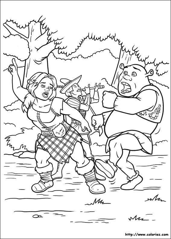 Images shrek fiona for Shrek 4 coloring pages