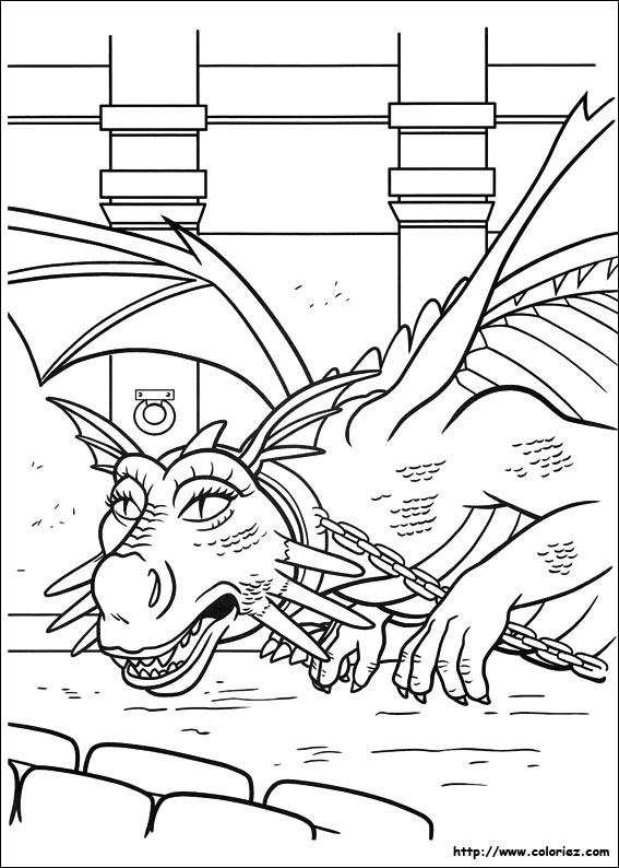 Coloriage dragon shrek for Shrek dragon coloring pages