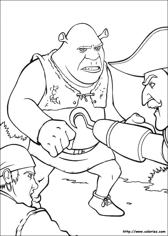 Coloriage capitaine crochet attaque shrek - Capitaine crochet coloriage ...