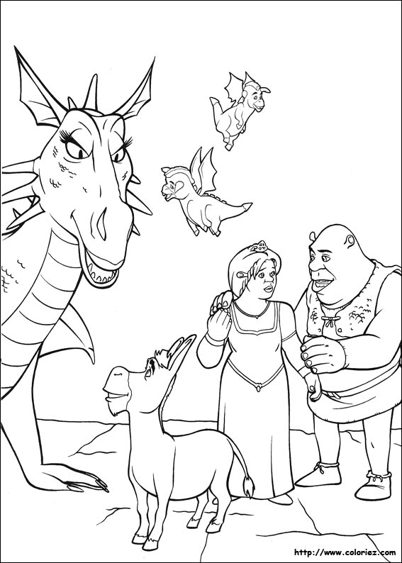 Coloriage shrek l 39 ane et pott for Coloring pages shrek