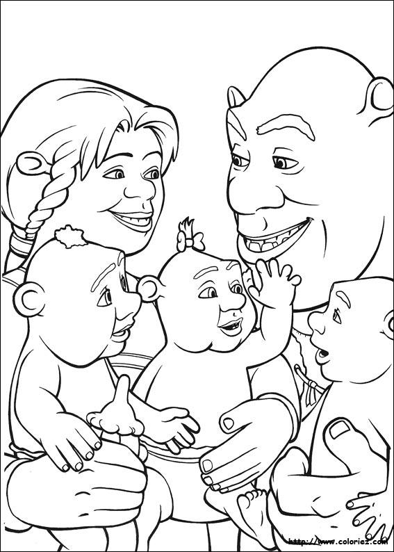 baby shrek coloring pages - coloriage les b b s ogres