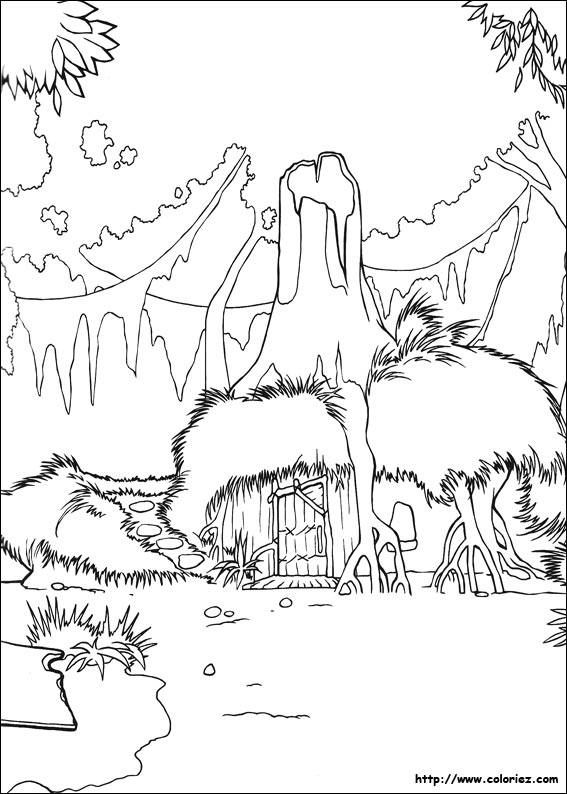 shreks house coloring pages - photo#2